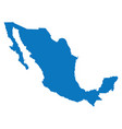 blank blue similar mexico map isolated on white ba vector image