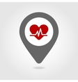 Blood pressure map pin icon vector image