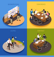 business people concept icons set vector image