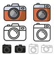 camera icon minimalistic flat design set vector image