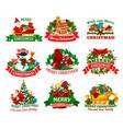 christmas holidays festive icon for xmas design vector image