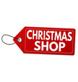 christmas shop label or price tag vector image vector image