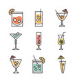 cocktail icon drink liquor refreshing alcohol vector image vector image