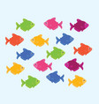 color fish vector image