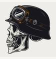 colorful vintage concept biker skull vector image vector image