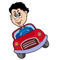 crazy car driver vector image