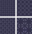 Dark grey seamless pattern background set vector image vector image