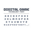 digital game technology font retro letters and vector image