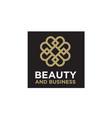 elegant luxury pattern motif initials bb logo vector image