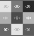 eye sign grayscale version vector image vector image