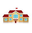 flat of school building vector image
