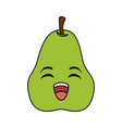 fresh pear fruit kawaii character vector image
