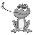 Frog eating bug vector image vector image