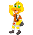 funny duck cartoon holiday vector image