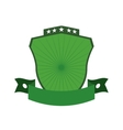 Green shield icon Label concept graphic vector image