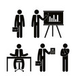 group of business people with paperboard teamwork vector image vector image