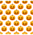 Halloween pumpkins seamless background vector image