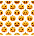 Halloween pumpkins seamless background vector image vector image