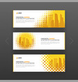 horizontal advertising business banner layout vector image
