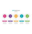 infographic label template with icons 5 vector image vector image