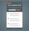 Landing page in flat style vector image vector image