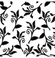 leafy embroidery baroque style seamless pattern vector image