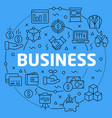 linear business vector image