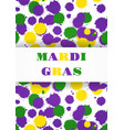 mardi gras carnival party background fat tuesday vector image vector image