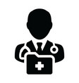 medical icon male doctor person profile avatar vector image vector image