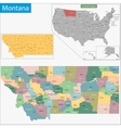 Montana map vector image