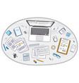 office employee or entrepreneur work desk vector image