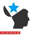 Open Head Star Eps Icon vector image vector image