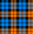 orange and blue tartan seamless pattern vector image vector image