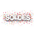 Paper soldes confetti sign vector image vector image