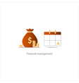 Pay day monthly payment calendar time period icon vector image vector image