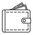 personal wallet icon outline style vector image vector image