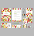 professional universal branding design kit vector image