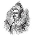 queen elizabeth i vintage vector image vector image