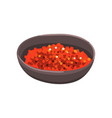 red caviar in a bowl seafood product vector image