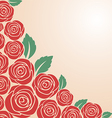 Red rose bush vector image