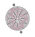 round maze kids game labyrinth puzzle vector image