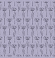 rustic flower seamless pattern vector image