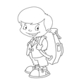 schoolboy set outlined vector image vector image