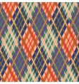 Seamless tartan pattern Diagonal fall palette vector image