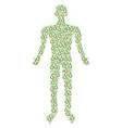 seed sprout man figure vector image