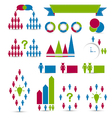 Set human infographic design elements vector image vector image