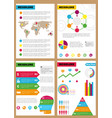 set infographic leaflets prospects can be vector image
