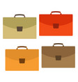 set of four multicolored bag on white background vector image vector image
