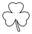 shamrock linear icon vector image vector image