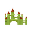 small medieval castle green fortress with brown vector image vector image